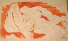 Édouard PIGNON - Dibujo Acuarela - NU ROUGE