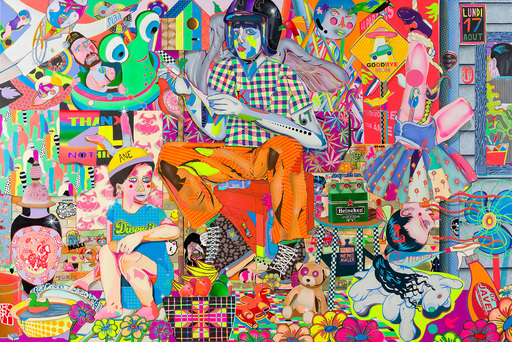 "Guive KHOSRAVI - Painting - ""Bad Brains Family"""