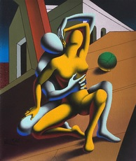 Mark KOSTABI - Painting - Embracing the enigma