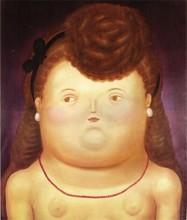 Fernando BOTERO - Estampe-Multiple - Retrato de mujer