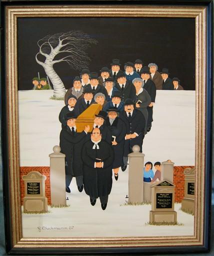 Henry DIECKMANN - Painting - Beerdigung - Funérailles