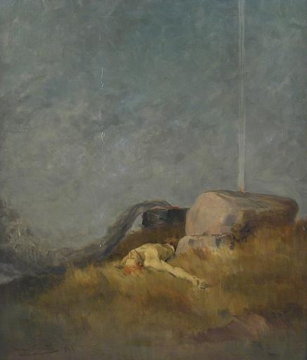 Hans BERTLE - Painting - Geburt des Todes