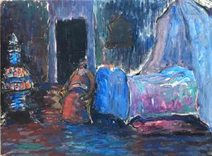 Marianne VON WEREFKIN - Painting - Schlafzimmer