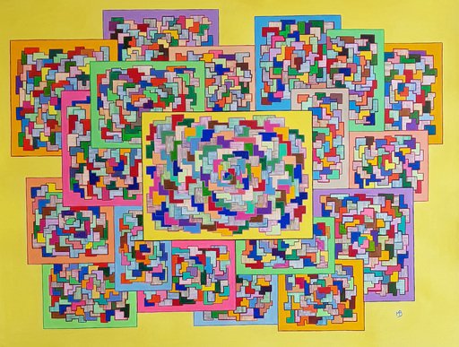 Monique BERTINA - Peinture - Puzzle