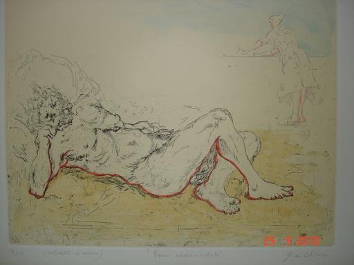 Giorgio DE CHIRICO - Stampa-Multiplo - Fauno addormentato