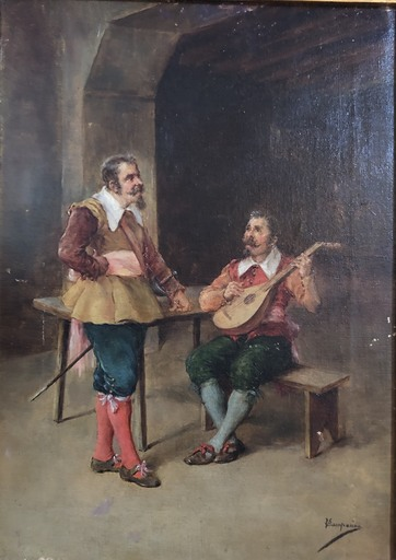 Vicente CAMPESINO Y MINGO - Gemälde - Escena de ensayo