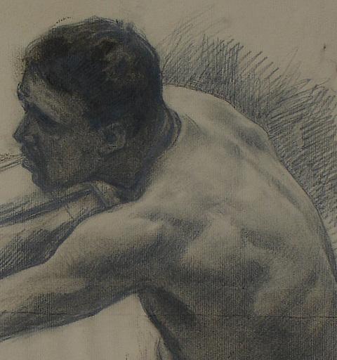 Ulpiano CHECA Y SANZ - Drawing-Watercolor - busto masculino  | buste d'homme