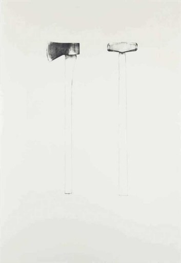 Jim DINE - Stampa Multiplo - Sledgehammer and axe