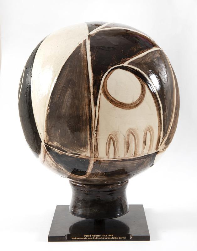 Pablo PICASSO - Céramique - Nature morte sur une sphère