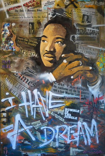 Rémi BERTOCHE - Painting - Martin Luther King