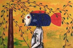Siriki KY - Peinture - Le gamin au masque