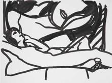 汤姆•韦瑟尔曼 - 绘画 - Drawing for Monica with Vivienne