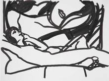Tom WESSELMANN - Peinture - Drawing for Monica with Vivienne