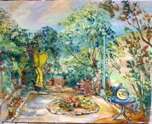 Gabriel BELOT - Painting - jardin à Rouge Gorge