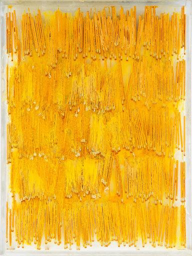 Fernandez ARMAN - Escultura - Accumulation Yellow Pencils