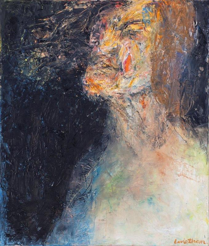David LEVIATHAN - Painting - Self-portrait without a beard