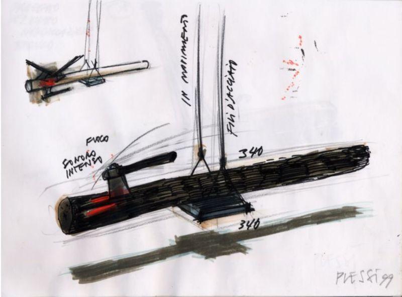 Fabrizio PLESSI - Drawing-Watercolor - In movimento