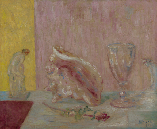 James ENSOR - Painting - Le coquillage rose