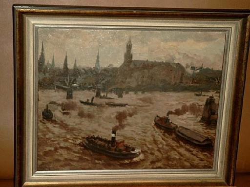 Bruno JÜTTNER - Painting - Hamburger Hafen