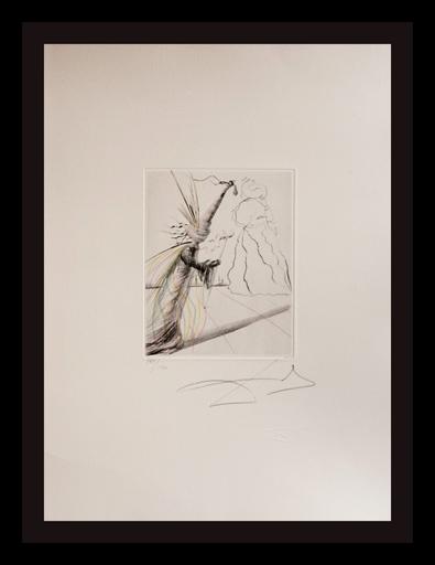 Salvador DALI - Grabado - The Magicians L'Illusioniste