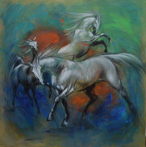 Pascal DABÈRE - Gemälde - Le Rival