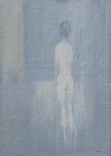 Giuseppe AJMONE - Pintura - Nudo di schiena