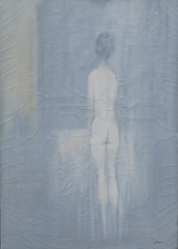 Giuseppe AJMONE - Pittura - Nudo di schiena
