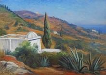Roméo Charles AGLIETTI - Painting - Paysage d'Algérie