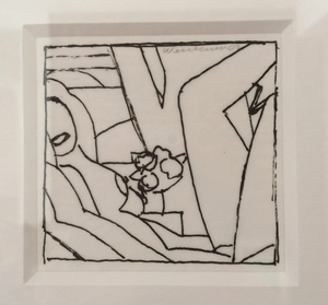 Tom WESSELMANN, Drawing for Sunset Nude (Variation #3)