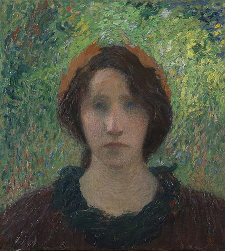 亨利•马丁 - 绘画 - Jeune femme laurée au chignon