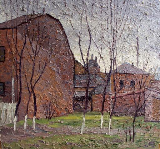 Valeriy NESTEROV - Painting - Taganka court yard. Moscow