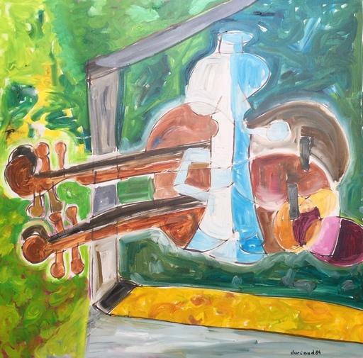Christian DURIAUD - Pintura - Nature morte au jardin