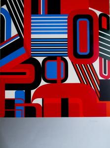 Jean DEWASNE - Grabado - Composition II