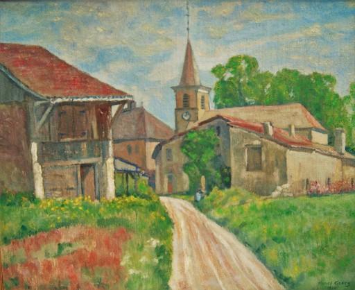 Henri GOERG - Pintura - Village près  de Genève