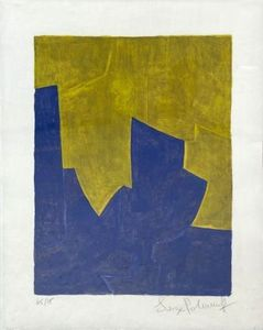 Serge POLIAKOFF - Print-Multiple - Composition bleue et jaune n°61