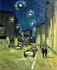 Valeriy NESTEROV - Painting - Lubyanskiy lane. Moscow