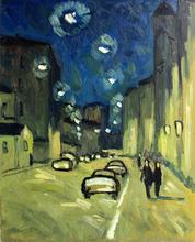 """Valeriy NESTEROV - Peinture - """"Moscow. Lubyanskiy Lane"""""""