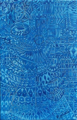 Carlo VANCHIERI - Painting - Blu D.