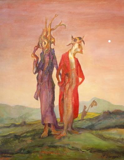 Tibor DENGYEL - Peinture - Couple de monstres