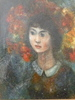 Edouard Joseph GOERG - Pintura - Jeune fille aux fleurs