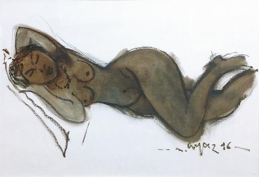 Mustafa AYAZ - 绘画 - SLEEPING NUDE