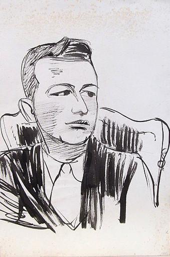 Erich HARTMANN - Disegno Acquarello - #19828: Werner Ruwold.