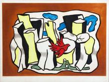 费尔南‧雷杰 - 版画 - L'oiseau rouge dans le bois