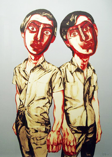 ZENG Fanzhi - Druckgrafik-Multiple - mask serie