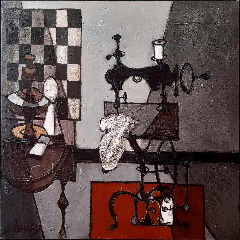 Claude VENARD - Pittura - Machine à coudre