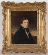 "Moritz Michael DAFFINGER - Miniature - ""Portrait of an Unknown Gentleman"", Oil Miniature"