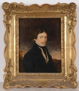 "Moritz Michael DAFFINGER - Miniature - ""Portrait of an Unknown Gentleman"", Oil Miniature"