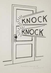Roy LICHTENSTEIN - Print-Multiple - Knock Knock