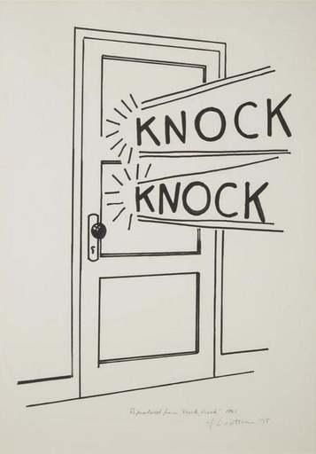 Roy LICHTENSTEIN - Stampa Multiplo - Knock Knock