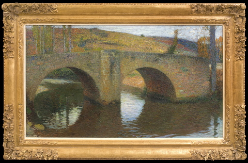 Henri MARTIN - Gemälde - Le Pont de Labastide du Vert